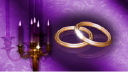 Royalty Free HD Video Clip of a Rotating Candelabra and Wedding Rings