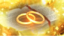 Royalty Free HD Video Clip of Wedding Rings Placed on a Bible