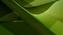 Royalty Free Video of Abstract Green Shapes