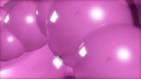 Royalty Free Video of a Rotating Pink Bubble Stream
