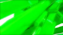 Royalty Free Video of Rotating Green Rectangular Tubes