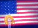 Royalty Free Video of Footballs and the American Flag
