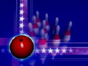 Royalty Free Video of a Bowling Ball and Rotating Pins