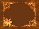 Royalty Free Video of a Floral Frame