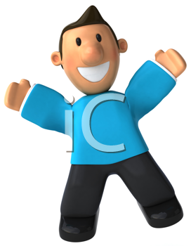 Royalty Free Clipart Image of a Happy Man