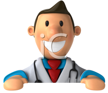 Royalty Free Clipart Image of a Smiling Doctor