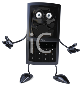 Royalty Free Clipart Image of a Mobile Phone