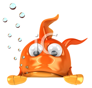 Royalty Free Clipart Image of a Golf Fish