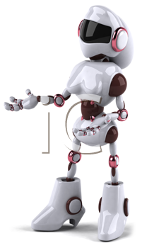 Royalty Free Clipart Image of a Woman Robot