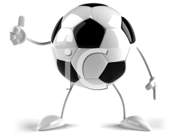 Royalty Free 3d Clipart Image of a Soccer Ball Character Giving the Thumbs Up
