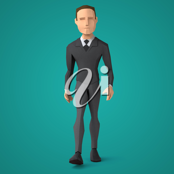 Low poly business man