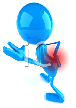 Royalty Free 3d Clipart Image of a Character With a Sore Back