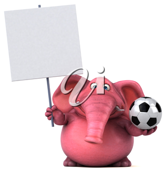 Pink elephant - 3D Illustration