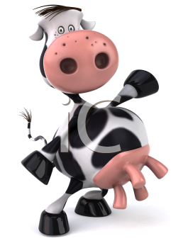 Royalty Free Clipart Image of a Holstein Cow