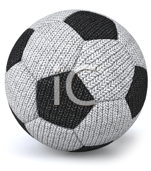 Royalty Free 3d Clipart Image of a Stuffed Soccer Ball
