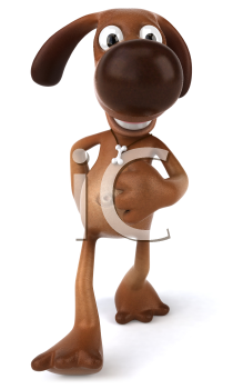 Royalty Free 3d Clipart Image of a Dog Walking