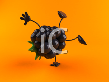 Royalty Free 3d Clipart Image of a Blackberry