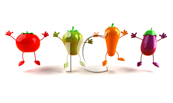Royalty Free 3d Clipart Image of Assorted Vegetables