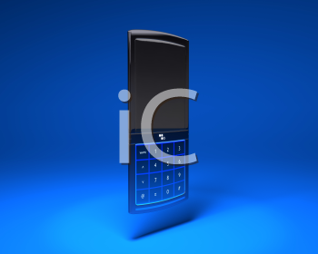 Royalty Free 3d Clipart Image of a Cell Phone