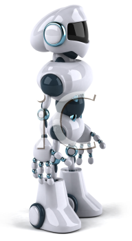 Royalty Free 3d Clipart Image of a Robot