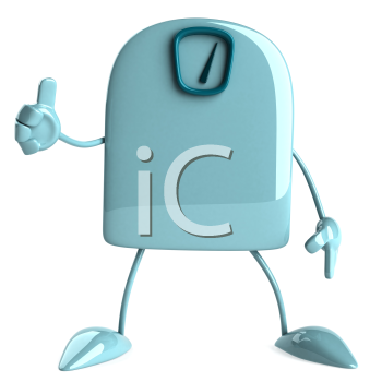Royalty Free Clipart Image of a Scale