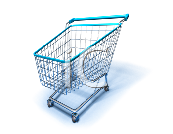 Royalty Free 3d Clipart Image of a Shopping Cart