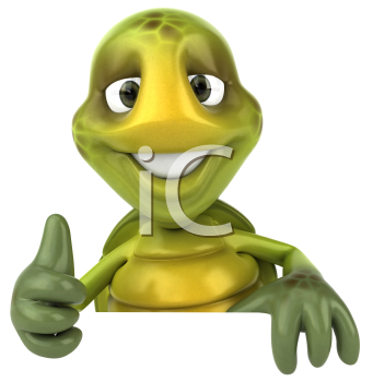 Royalty Free 3d Clipart Image of a Turtle