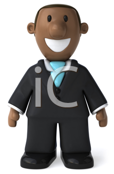 Royalty Free Clipart Image of an African American Businessman