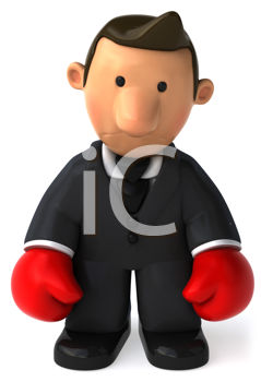 Royalty Free Clipart Image of a Sad Businessman
