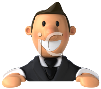 Royalty Free Clipart Image of a Businessman