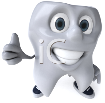 Royalty Free Clipart Image of a Happy Tooth