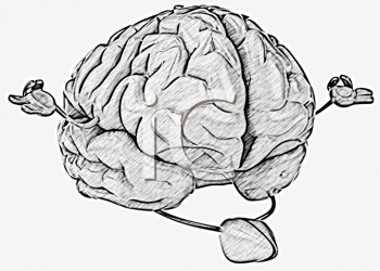 Royalty Free Clipart Image of a Meditating Brain