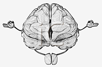 Royalty Free Clipart Image of a Zen Brain