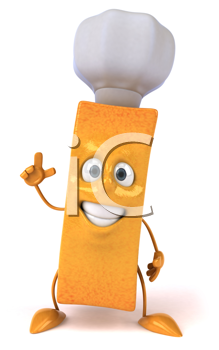 Royalty Free Clipart Image of a French Fry Chef