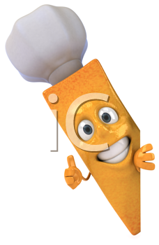Royalty Free Clipart Image of a French Fry Chef Giving a Thumbs Up
