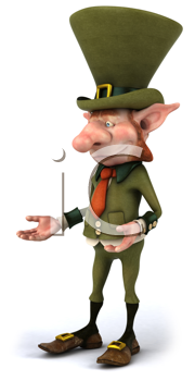 Royalty Free Clipart Image of a Leprechaun