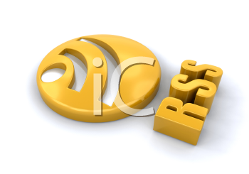 Royalty Free Clipart Image of an RSS Symbol