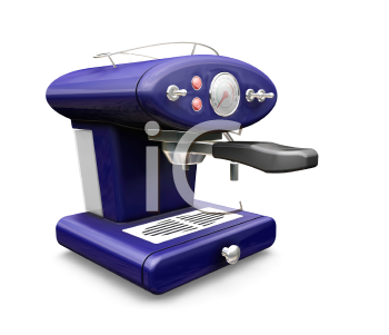 Royalty Free Clipart Image of a Cappuccino Machine