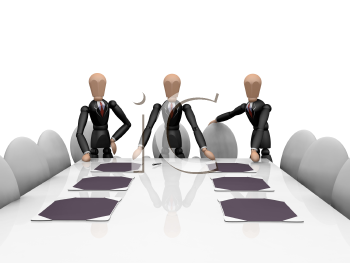 Royalty Free Clipart Image of a Business Team