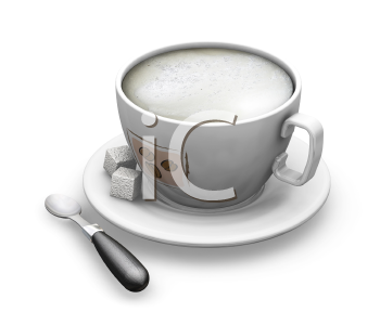 Royalty Free Clipart Image of a Coffee Cup