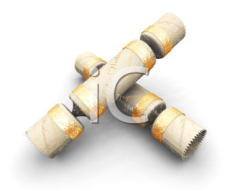 Royalty Free Clipart Image of Christmas Crackers