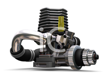 Royalty Free Clipart Image of a Car Engine