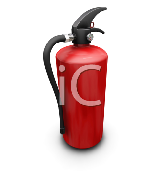 Royalty Free Clipart Image of a Fire Extinguisher