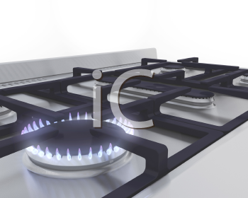 Royalty Free Clipart Image of a Gas Ring