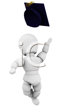 Royalty Free Clipart Image of a Celebrating Graduate