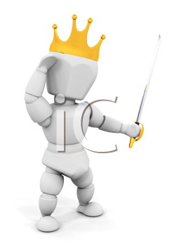 Royalty Free Clipart Image of a King