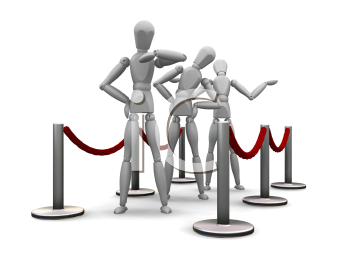 Royalty Free Clipart Image of People in a Line