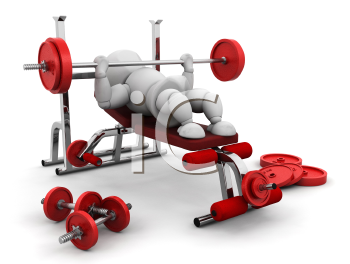 Royalty Free Clipart Image of a Person Lifting Weights