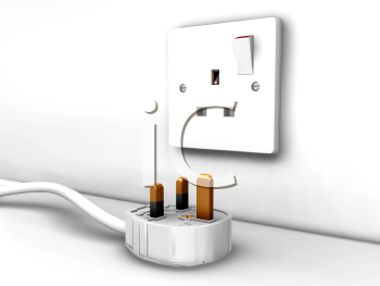 Royalty Free Clipart Image of a Socket and Plug
