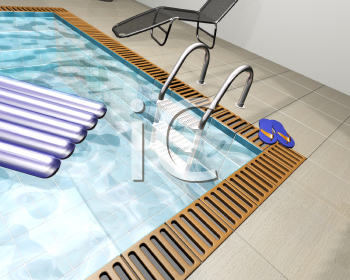 Royalty Free Clipart Image of a Indoor Pool